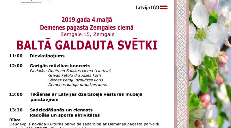 """4.maijā Daugavpils novada Demenes pagasta Zemgales ciemā, norisināsies """"Baltā galdauta svētki"""