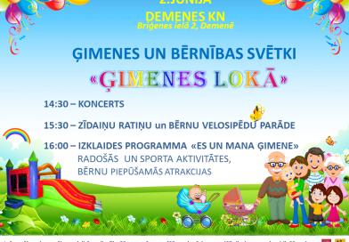 2. jūnijā Demenes kultūras namā notiks Ģimenes un bērnības svētki